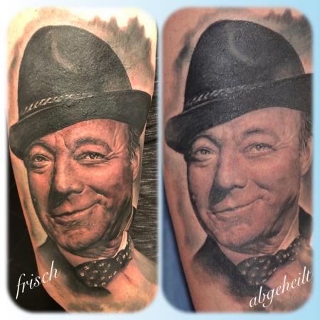 Heinz Rühmann Tattoo
