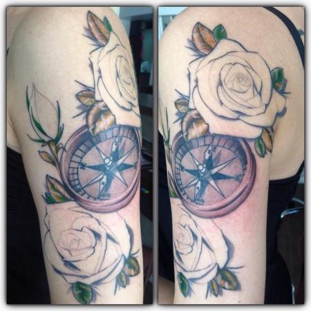 Rosen mit Kompass