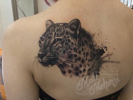 katze-Tattoo: Leopard