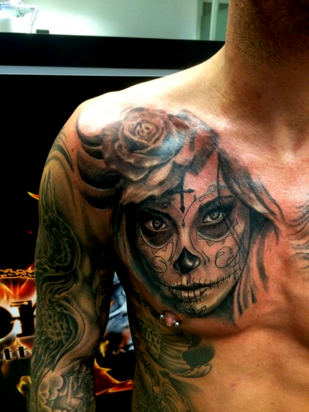 la catrina-Tattoo: La Catrina Boog Tattoo