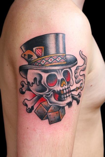 spielkarten wuerfel tattoos pictures to pin on pinterest tattooskid. Black Bedroom Furniture Sets. Home Design Ideas