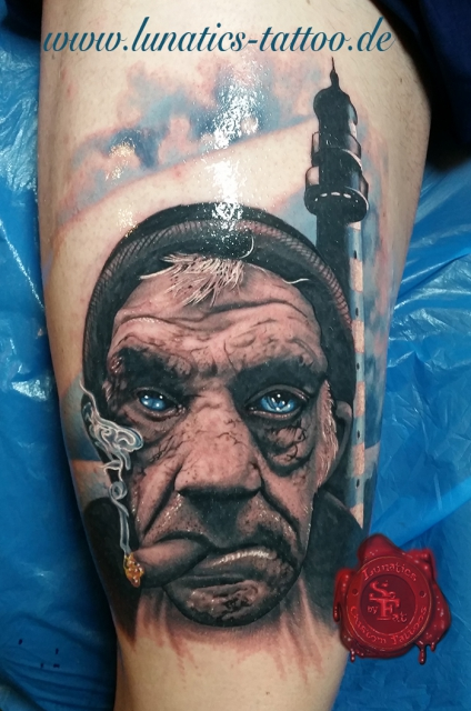Alter Mann und das Meer by SoFat www.lunatics-tattoo.de
