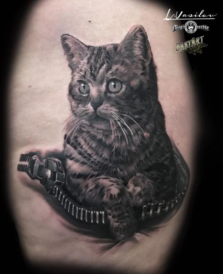 Katze aus Reißverschluß