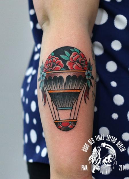 traditional balloon tattoo