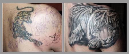 tiger-Tattoo: Ein Tiger