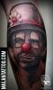 Clown-stilisiertes Porträt