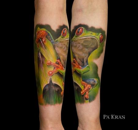 Frosch von unserem Gasttätowierer Pavel Krasnyak