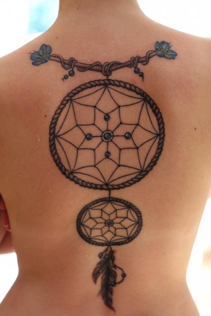 traumfänger-Tattoo: Dreamcatcher