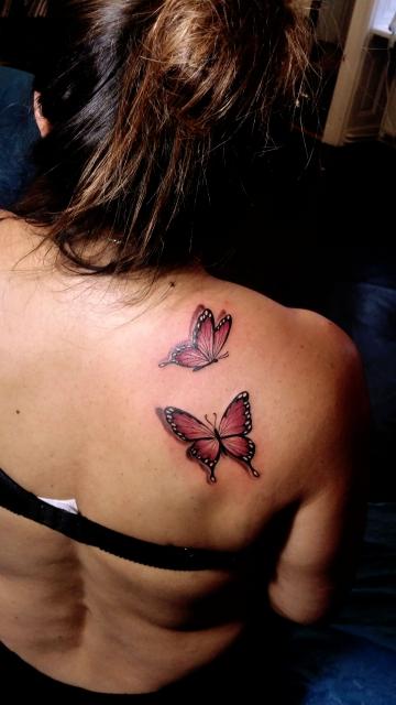 schmetterlinge-Tattoo: Schmetterlinge /2