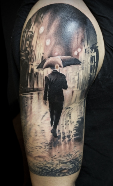 Dancing in the rain Tattoo