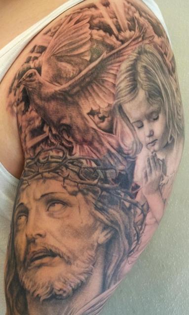 Ausschnitt Guter Sleeve, Assassin Ink, Tattoo Dresden