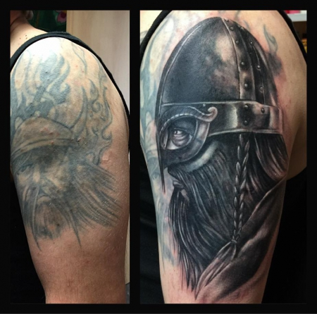 Cover-up/Wikinger 1. Stitzung in progress
