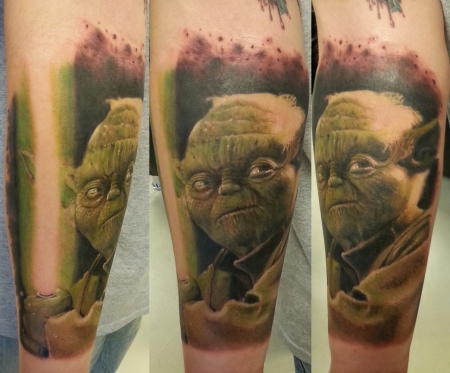 sterne-Tattoo: Yoda