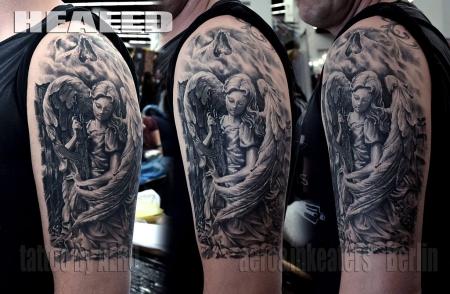 aero and inkeaters der engel des todes tattoos von tattoo. Black Bedroom Furniture Sets. Home Design Ideas