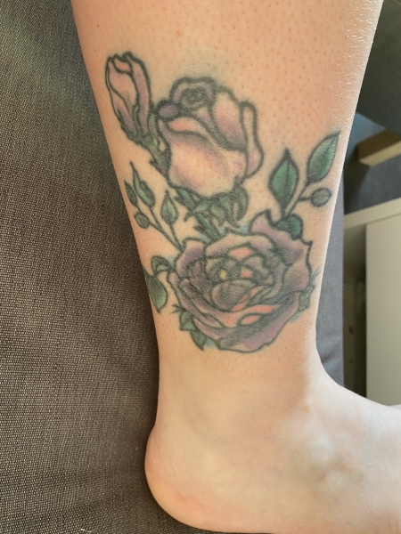 Rose als Cover Up