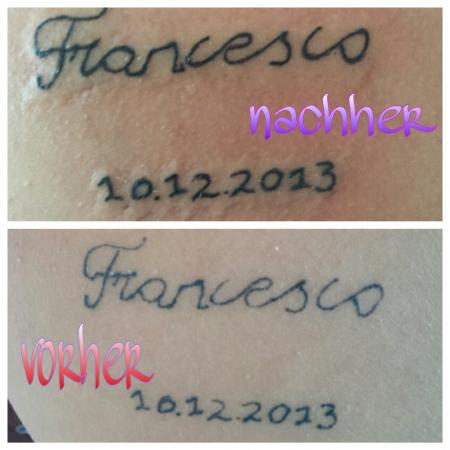 my tattoo auf den schulterblatt