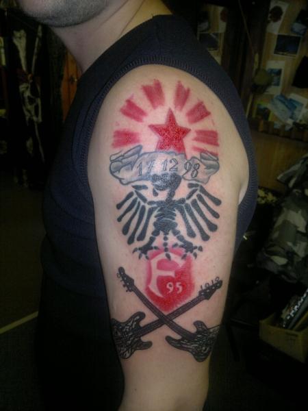 mein erstes Tattoo, von meiner Lieblingsband