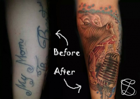 cover up-Tattoo: Cover Up darf ich Vorstellen Puffi