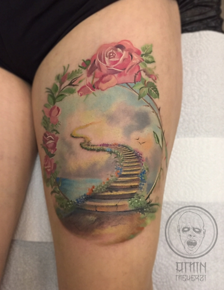 rosen-Tattoo: Himmelstor :P
