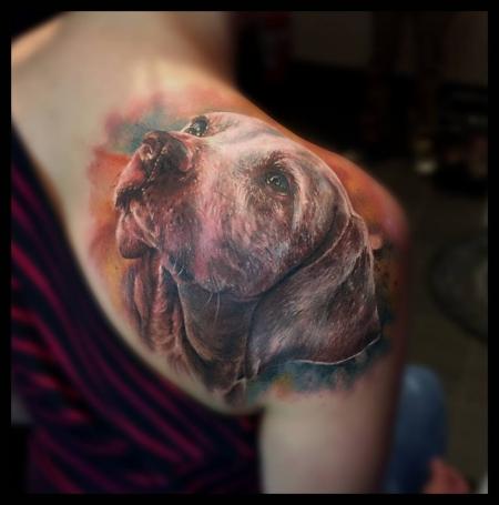 Hund Portrait von Zsofia Belteczky