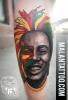 Bob Marley mit bunt abstrakt