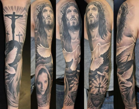 taube-Tattoo: Christlich