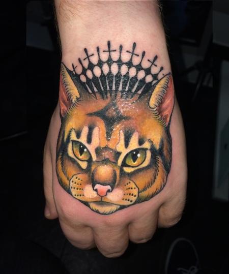 Katze Hand