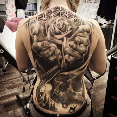 Backpiece finished