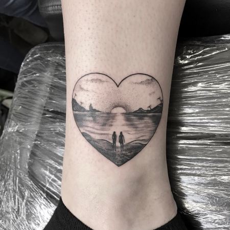Love beach Tattoo