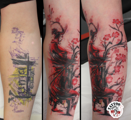 samurai-Tattoo: Samurai Cover-Up