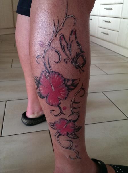 Hier mein allererstes Tattoo...