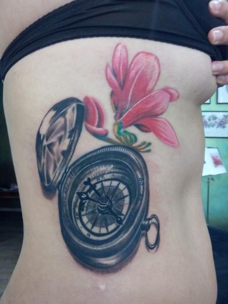 Kompass mit Magnolia