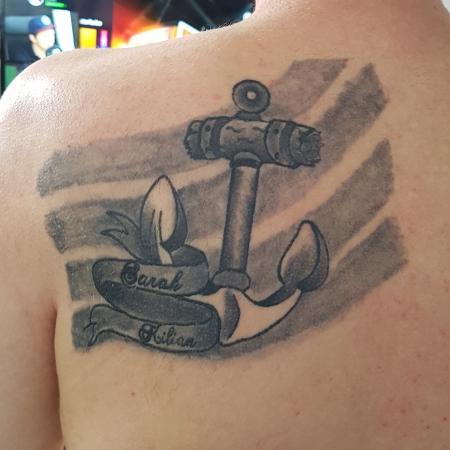 Mad Mikey 78 Oldschool Anker Mit Namen Tattoos Von Tattoo