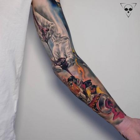 Tattoo der blutige pfad hand gottes Blutige Pfad