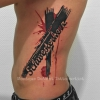 sister tattoo geschwisterliebe grunge script