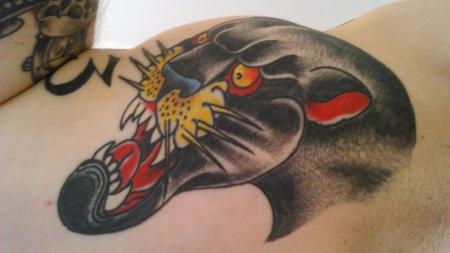 meerjungfrau-Tattoo: Pantherkopp