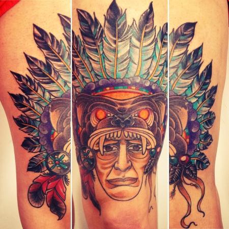 dancil indianer fertig tattoos von tattoo. Black Bedroom Furniture Sets. Home Design Ideas