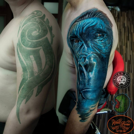 Gorilla  Cover Up eines Tribals
