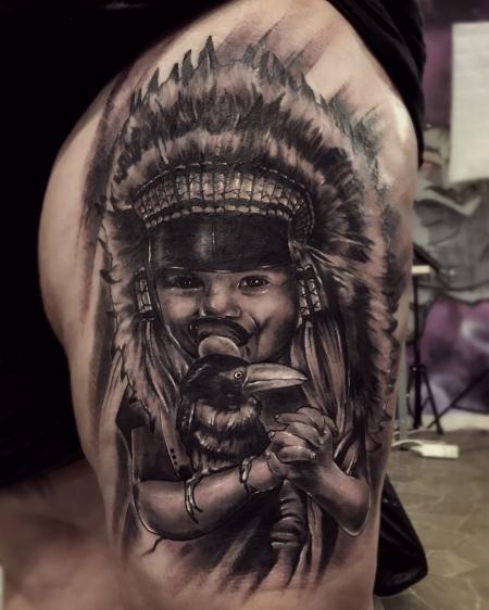 Indianer tattoos und indianerbilder for Indian ink tattoo