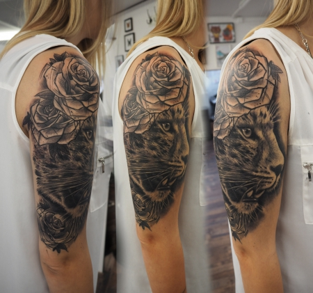 leopard-Tattoo: Healed!
