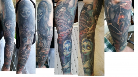 Sleeve - Corpse Bride- Teil Cover up