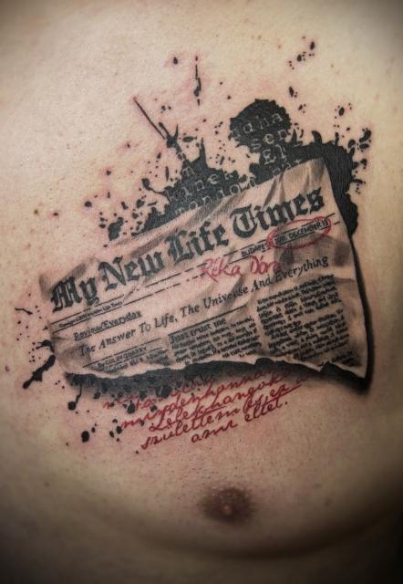 Trash Polka Zeitung Tattoo