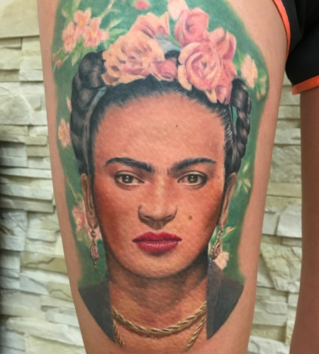 Frida Kahlo Tattoo Portrait