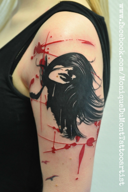 abstract grunge girl