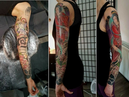 Handgelenk-Tattoo: Japan Sleeve (Cover up am Handgelenk)