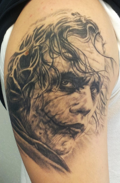 joker-Tattoo: Joker, Assassin Ink, Tattoo Dresden