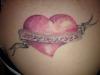 Herz Tattoo vom Tätowierer