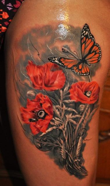 Schmetterling in Blumenwiese