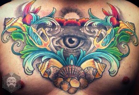 ♥ Meereskunde Dekolleté Tattoo ♥
