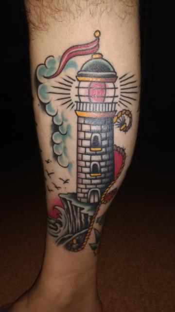 rs2 old school leuchtturm tattoos von tattoo. Black Bedroom Furniture Sets. Home Design Ideas